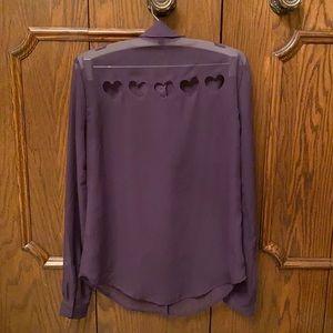 Heart cut out Material Girl shirt size XS